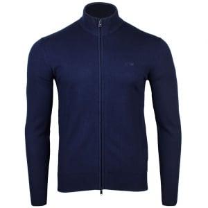 Armani Jeans Zip Up Knitwear in Navy