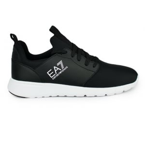 Ea7 Nylon Logo Trainers in Black