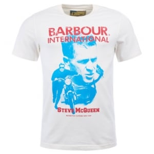 Barbour International Starting Line T-Shirt in Cream