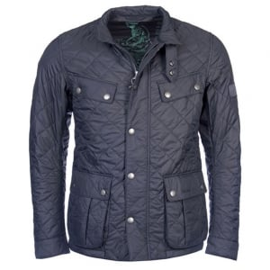Barbour International Ariel Coat in Charcoal