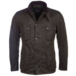 Barbour International Weirwax Coat in Olive