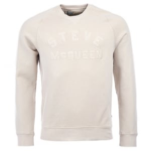 Barbour International Merchant Sweatshirt in Cream