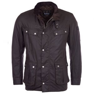 Barbour International Duke Wax Coat in Brown