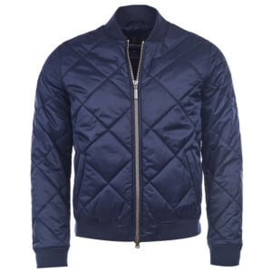 Barbour International Bomber Jacket in Navy