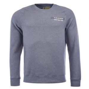 Barbour International Issue Crew Neck Sweatshirt in Grey
