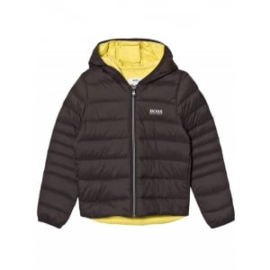 Big Kids Puffer Coat in Dark Grey