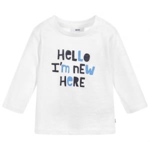 New Here Newborn Tee in Cream