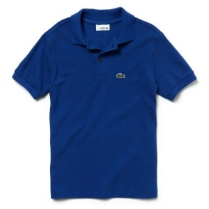 Lacoste Kids 8-12 Years Unisex Core Polo Top in Blue