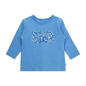 Newborn Cubes Tee in Blue