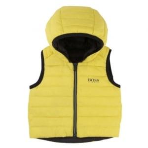 Body Warmer Gilet in Yellow