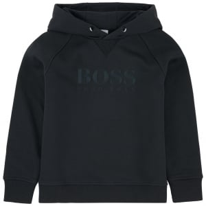 Logo Hooded Sweatshirt in Black