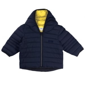 Body Warmer Newborn Coat in Navy