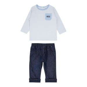 Newborn Tee and Pant Set in Baby Blue