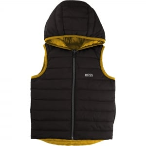 Body Warmer Coat in Charcoal