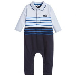 Polo Collar Pyjamas in Baby Blue