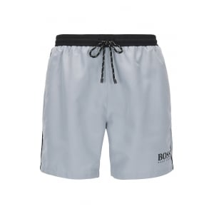 Starfish Swim Shorts in Silver