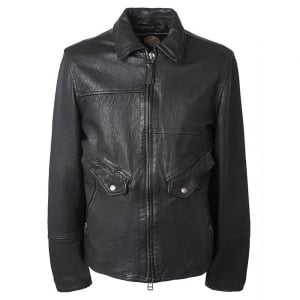 Jennets Leather Jacket in Black