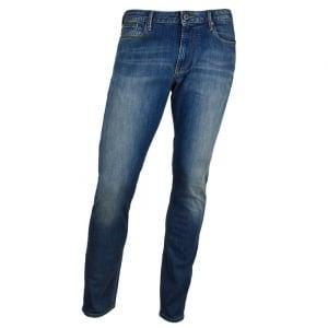"Armani Jeans Slim J06 30"" Short Leg Jeans in Mid Wash"