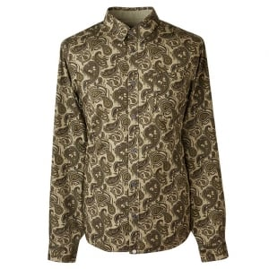 Pretty Green Paisley Shirt in Green