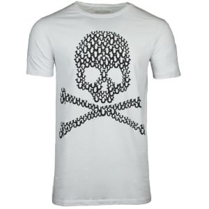 True Religion Crew Skull T-Shirt in White