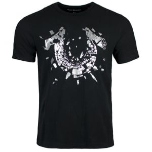 True Religion Shattered T-Shirt in Black