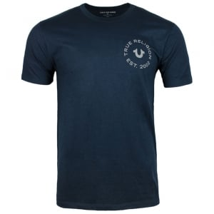 True Religion UK Crafted T-Shirt in Navy
