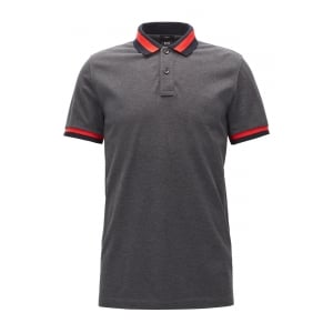 Phillipson 23 Polo Shirt in Charcoal