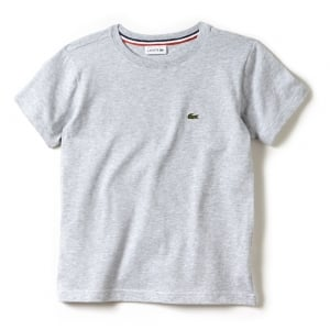 Lacoste Kids 8-12 Years Logo Tee in Grey