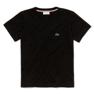 Lacoste Kids Logo Tee in Black