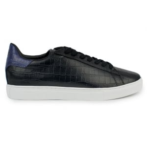 Armani Jeans Croc Low-Top Trainers in Black