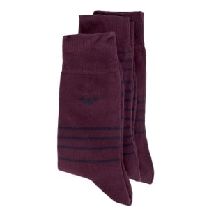 Stripe Socks in Dark Red
