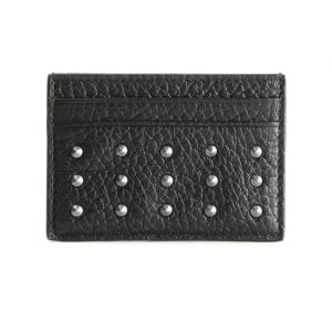 Spike Card Holder Wallet in Black