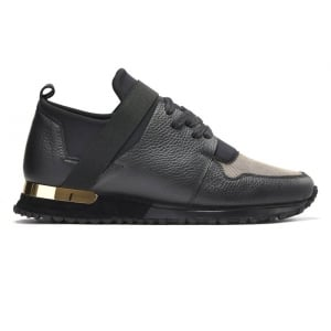 Mallet BTLR Elast Trainers in Black & Gold