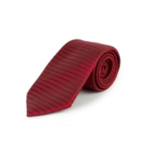 Lined Tie in Red