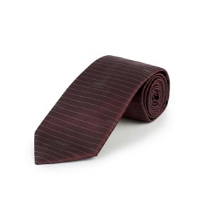 Lined 23 Tie in Red