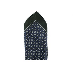 33 x 33 Pocket Square in Navy