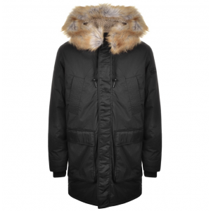 Diesel W-Folk Coat in Black
