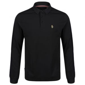 Pinsent Long Sleeve Polo Shirt in Black
