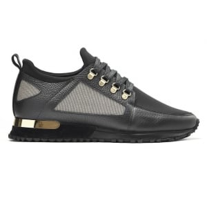 Mallet BTLR Hiker Trainers in Black and Gold