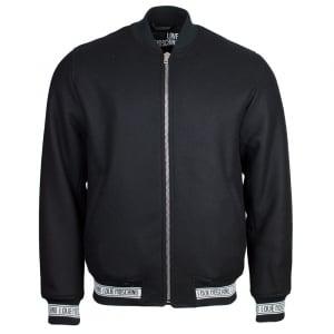 Love Moschino Wrist Moschino Logo Jacket in Black