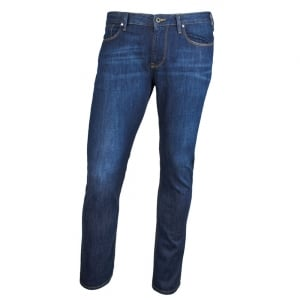 "Armani Jeans J06 Slim 30"" Short Leg Jeans in Dark Wash"