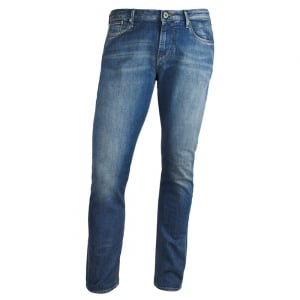 "Armani Jeans J06 Slim 30"" Short Leg Jeans in Mid Wash"