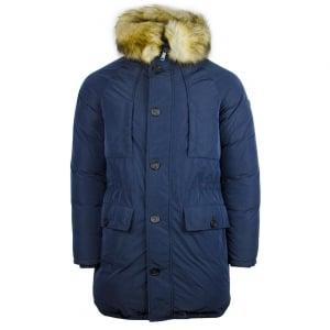 Armani Jeans Fur Coat in Navy