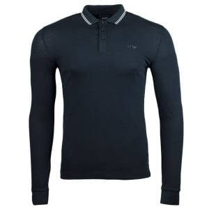 Armani Jeans Tipped Polo Shirt in Navy