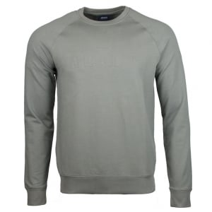 Armani Jeans Embossed Logo Sweatshirt in Grey