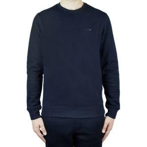 Armani Jeans Logo Sweatshirt in Navy