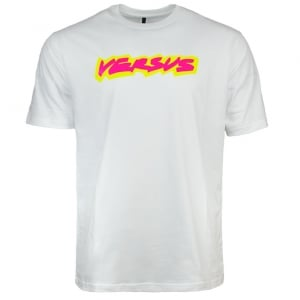 Versus Versace Caps Cotton T-Shirt in White