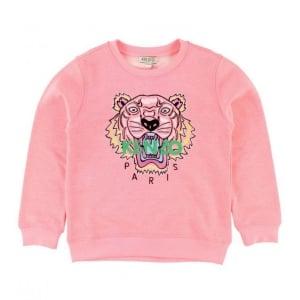 8-12 Years Tiger Sweatshirt in Pink