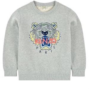 8-12 Years Tiger Sweatshirt in Grey