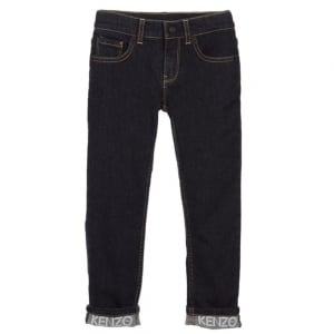 8-12 Years Pantalon Jeans in Dark Wash